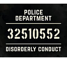Mugshot sign Photographic Print