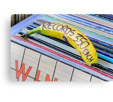 Cheap Records Canvas Print