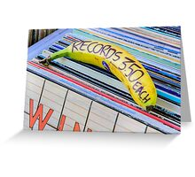Cheap Records Greeting Card