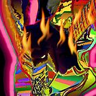 neon psychedelic burning guitar jam by gforall