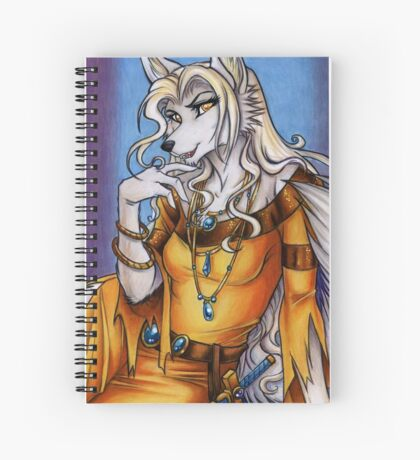 Golden Sorcha Werewolf  Spiral Notebook