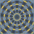Gray and gold Kaleidoscope pattern by Sarah Curtiss