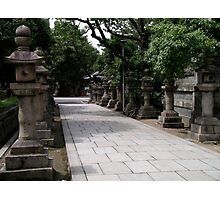 Lanterns Sumiyoshi Taisa Shrine, Osaka Japan Photographic Print
