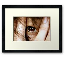 She's watching Framed Print