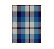 00388 Bradey Blue Dress Tartan Art Print