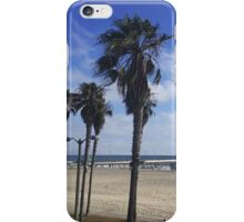 Palm Trees and Pier at Venice Beach, CA iPhone Case/Skin