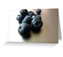 More blueberries Greeting Card