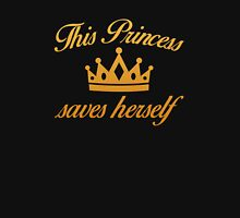 This Princess Saves Herself Women's Fitted V-Neck T-Shirt