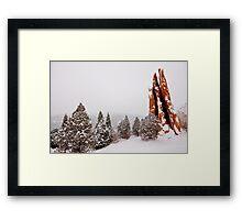 Snow on the Three Graces Framed Print