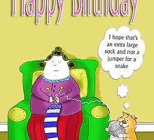 Big Betty's big sock, happy birthday by BRENDEN HOWARD