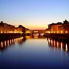 Florence Sunset - River Arno and the Ponte Vecchio by KATuck