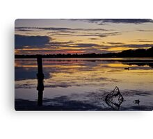 Sunrise on the Budgewoi Lake. ( 11-2-11 ) Canvas Print