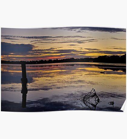 Sunrise on the Budgewoi Lake. ( 11-2-11 ) Poster