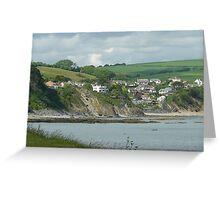 Hannafore sea view, Cornwall Greeting Card