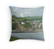 Hannafore sea view, Cornwall Throw Pillow