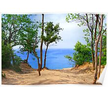 Pyramid Point Sand Dunes Michigan Poster