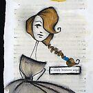 lovely brunette angel by CherieStrongArt