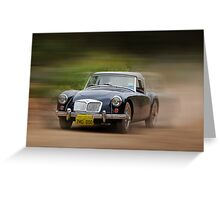 MG, Travelling At Speed Greeting Card