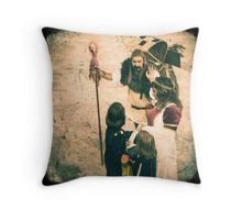 Hawker's tray full of little boys dreams Throw Pillow