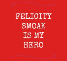 Felicity Smoak Is My Hero - Pink Arrow & White Text Version One Piece - Short Sleeve