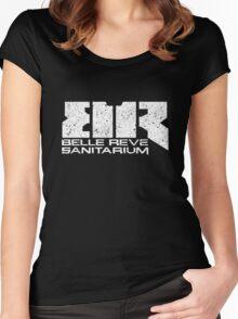 Belle Reve Sanitarium - Worn Women's Fitted Scoop T-Shirt