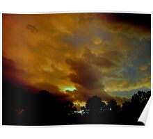 Flying Pig Storm Cloud Poster