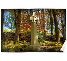 Celtic Cross in Autumn Poster