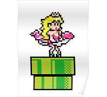 Peach - pixel art Poster