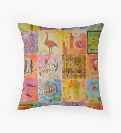 Lozenge Fish And Other Oddities Throw Pillow
