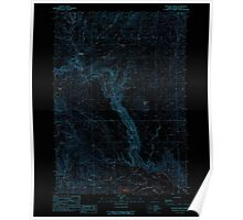 USGS Topo Map Oregon Becker Creek 278986 1990 24000 Inverted Poster