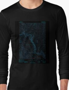 USGS Topo Map Oregon Becker Creek 278986 1990 24000 Inverted Long Sleeve T-Shirt