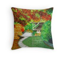 Garden colored by nature Throw Pillow