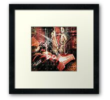 """The spider has a meat fetish"" Framed Print"