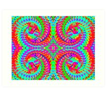 Rainbow Fractal Swirls Art Print