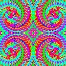 Rainbow Fractal Swirls by Charldia