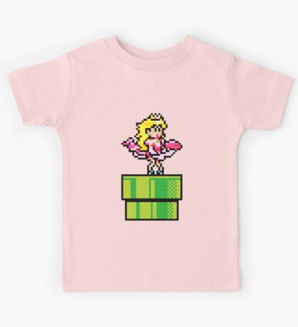 Peach - pixel art Kids Tee