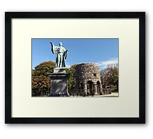 Channing and the Tower Framed Print