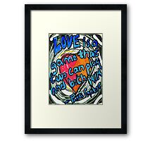 Love is a Game Framed Print