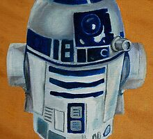 Gordy's R2D2 that he insists should have a red light but i keep telling him 'it's a toy with no batteries'. by Sally Kitten