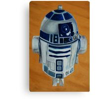 Gordy's R2D2 that he insists should have a red light but i keep telling him 'it's a toy with no batteries'. Canvas Print