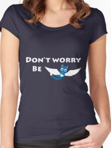 """Be """"Happy"""" Women's Fitted Scoop T-Shirt"""
