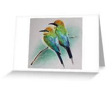 Rainbow Bee Eaters Greeting Card