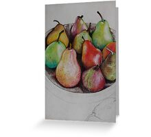 Pencilled Pears Greeting Card