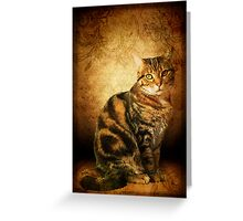 Evadora ~ Feline Portrait Greeting Card