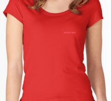 Solid Plain Red T-Shirt - Mens and Womens Clothing Women's Fitted Scoop T-Shirt