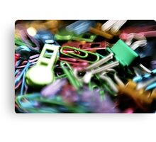 Clipped - Office Supplies  Canvas Print