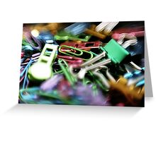 Clipped - Office Supplies  Greeting Card