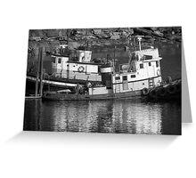 Tug Boats in Nanaimo Harbor, BC, Canada Greeting Card