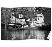 Tug Boats in Nanaimo Harbor, BC, Canada Poster