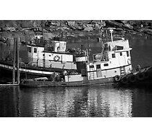 Tug Boats in Nanaimo Harbor, BC, Canada Photographic Print